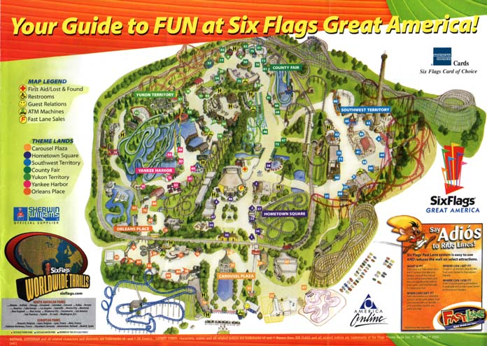 Six Flags Great America 2002 Map