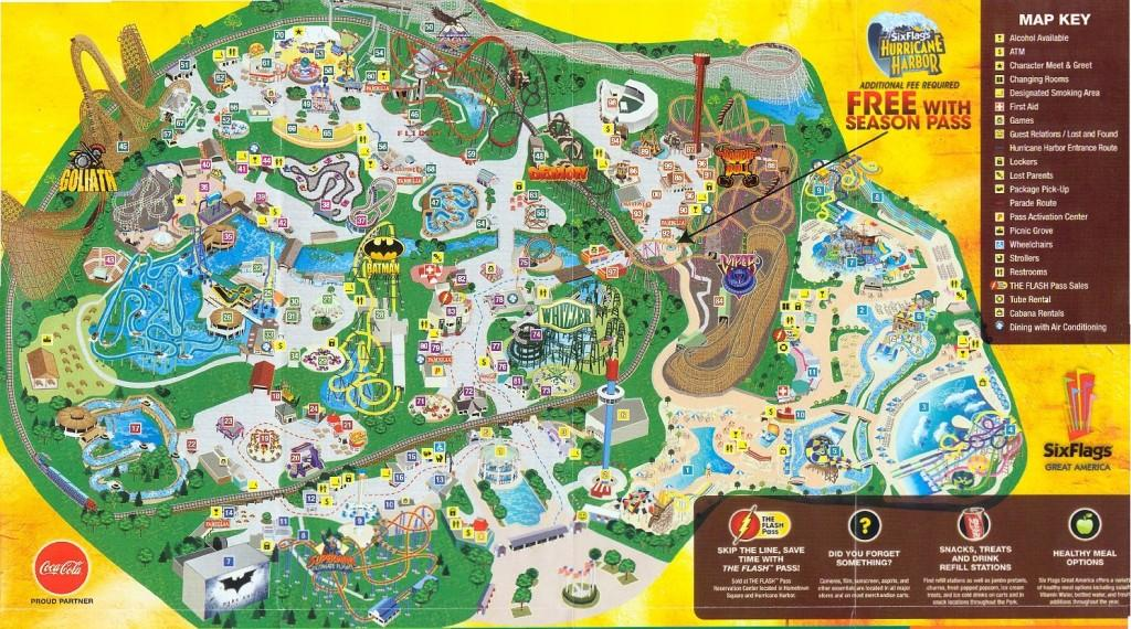 Six Flags Great America 2009 Map