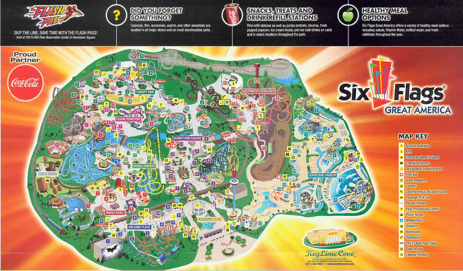 Six Flags Chicago Map Six Flags Great America 2011 Map